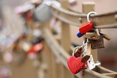 Padlocks Of Love Stock Photography