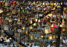 Padlocks of love stock photography