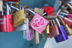 Padlocks of love Royalty Free Stock Images