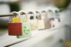 Padlocks. Padlock love millennium bridge locks Stock Image