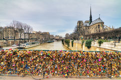 Padlocks in Paris Royalty Free Stock Photos