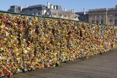 Padlocks on Pont des Arts bridge in Paris Royalty Free Stock Photography