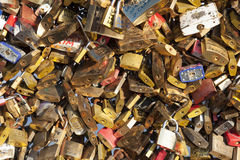 Padlocks in the Pont des arts Stock Images