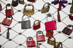 padlocks red Royaltyfri Bild
