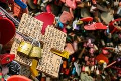 padlocks red Royaltyfri Fotografi