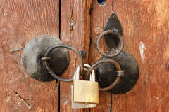 Padlocks On Rusty Lock Stock Image
