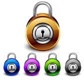 Padlocks set. Coloured, this  illustration may be useful  as designer work Stock Images