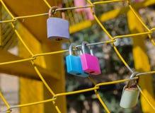 Padlocks, symbols of love Stock Photography