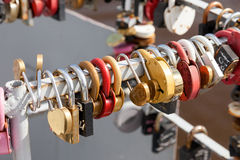 Padlocks, symbols of love Royalty Free Stock Photography