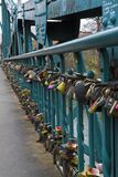 Padlocks on Tumski Bridge Royalty Free Stock Photography
