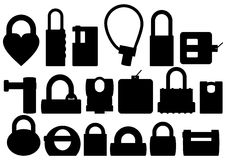 Padlocks. Stock Images