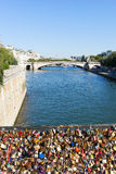Padlocs, Seine, Paris. Stock Images