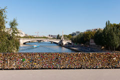 Padlocs, Seine, Paris. Royalty Free Stock Photography