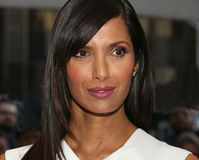 Padma Lakshmi Arrives at the 2015 Time 100 Gala. TV personality Padma Lakshmi arrives on the red carpet entering the Time Warner Center for the 2015 Time Stock Photography
