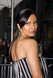 Padma Lakshmi. Model and TV cooking show personality Padma Lakshmi arrives on the red carpet for the 9th Annual Time 100 Gala in New York City on April 23, 2013 Royalty Free Stock Photos