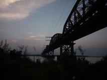 Padma river. Harding Bridge of Pakshy Royalty Free Stock Photography