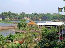 Padma River in Kushtia, Bangladesch Lizenzfreie Stockfotos