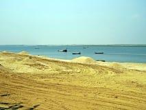 Padma River in Kushtia, Bangladesch Lizenzfreies Stockfoto