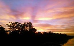 Padma river. Sky rainbow for loking good Royalty Free Stock Image