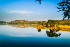 Padma Talab. Or Padma Lake at Ranthambore Stock Photo