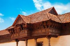The Padmanabhapuram Palace in India stock photography