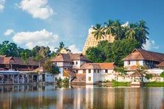Padmanabhapuram slott framme av den Sri Padmanabhaswamy templet i Trivandrum Kerala Indien royaltyfria bilder