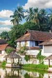Padmanabhapuram slott framme av den Sri Padmanabhaswamy templet i Trivandrum Kerala Indien arkivfoton