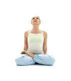 Padmasana lotus pose #2 Royalty Free Stock Image