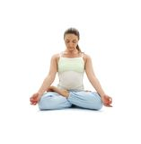 Padmasana lotus pose Royalty Free Stock Photography