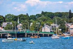 Padnaram Bridge Harbor Boats Dartmouth Massachusetts Royalty Free Stock Photos