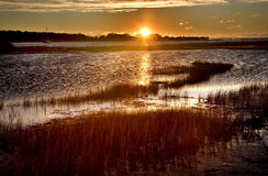 Padnaram Harbor Massachusetts at Sunrise Royalty Free Stock Photography