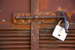 Padock de aço transversal abstrato em um mornago de varese Italia Imagem de Stock Royalty Free
