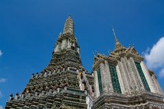 Padoga van wat arun, Bangkok Stock Foto's