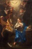 PADOUE, ITALIE - 9 SEPTEMBRE 2014 : La peinture de l'annonce par Jean Raoux dans la cathédrale d'église de Santa Maria Assunta (D Image stock