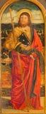 Padoue - la peinture de St Jacob l'apôtre par l'école de Bellini de 16 cent dans l'église de Saint-Nicolas Image stock