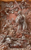 Padoue - la prière découpée de Jésus de soulagement dans le jardin de Gethsemane la sacristie de l'église Chiesa di San Gaetano Image libre de droits
