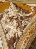 Padoue - le fresque de la vertu cardinale de l'amour dans la cathédrale de Santa Maria Assunta (Duomo) Photographie stock libre de droits