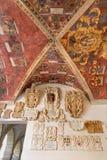 Padoue - plafond et entrée à l'oreillette du del BO de Palazzo Photos libres de droits
