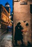 24 06 Padova 2018 Италия - граффити пары стоковое изображение rf