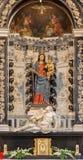 Padova - altare laterale barrocco del dell Addolorata di Mary Altare del vergine da 17 dal centesimo 17 centesimo in dei Servi di Immagine Stock Libera da Diritti