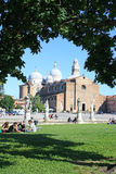 PADOVA, ITALY - MAY 13: Basilica Abbey of St. Just. Basilica is located in the center of the square Prato della Valle Royalty Free Stock Images