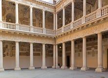 Padova - l'atrio del BO di Palazzo immagine stock