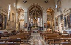 Padova - la navata della chiesa San Francesco del Grande Immagine Stock Libera da Diritti