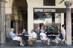 Padova local coffee shop Royalty Free Stock Images