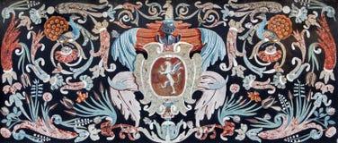 Padova - mosaico di pietra sull'altare laterale del degli Eremitani (chiesa di Chiesa della chiesa dei Eremites) Fotografia Stock