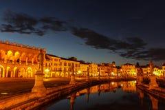 Padova. Near Venice, bright square, channel, Italy, summer, Prato della Valle Royalty Free Stock Image