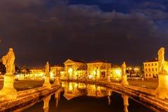 Padova. Near Venice, bright square, channel, Italy, summer, Prato della Valle Royalty Free Stock Photo