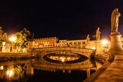 Padova. Near Venice, bright square, channel, Italy, summer, Prato della Valle Stock Image