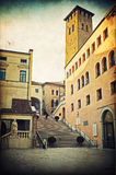 Padova. Padua, Town Hall (Palace of the Reason) and Giant Staircase Stock Photo