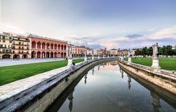 Padova. Prato della valle square. Famous Prato della valle square in Padova, Italy royalty free stock photo